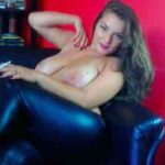 Big Breasted Chick In Leather Pants Smoking Fetish Cam Show