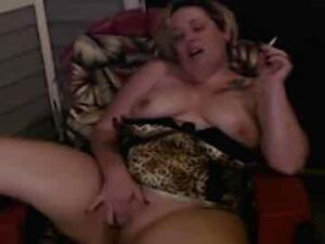 Mature BBW Smoking And Pussy Play On Balcony