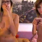 Two Sexy Coeds Smoking Cigarettes On Webcam